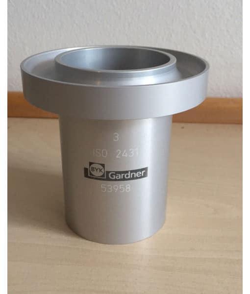 ISO CUP 3 mm udløbsbæger, aluminium