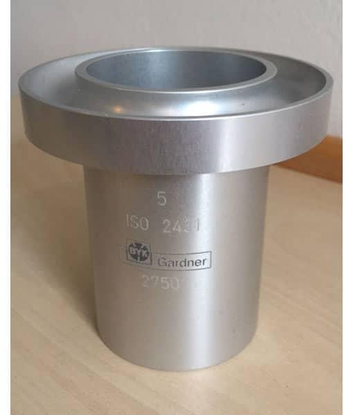 ISO CUP 5 mm udløbsbæger, aluminium